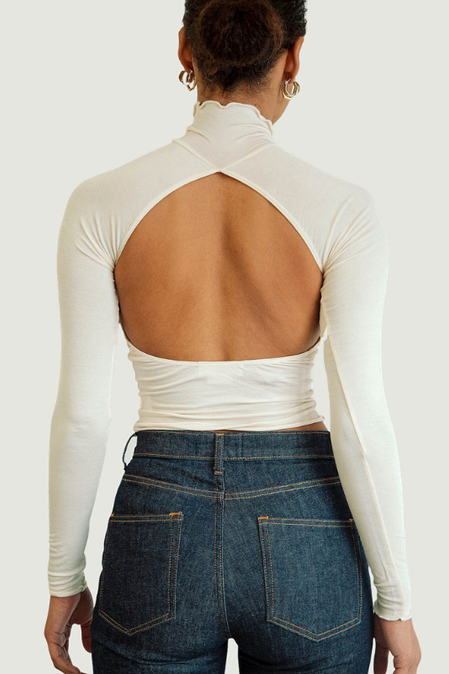 The Line by K Margaux Turtleneck - Cream