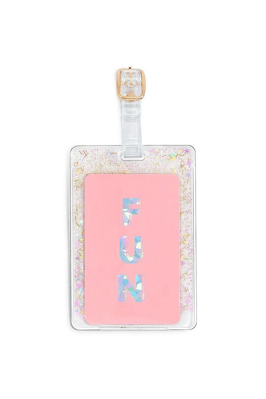 Ban.do Glitter Bomb Luggage Tag - Confetti