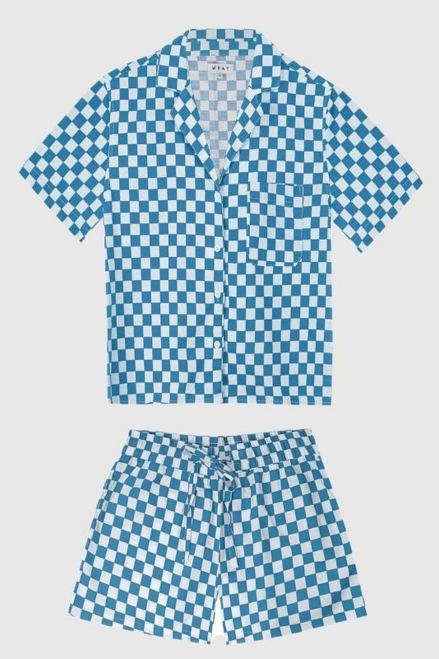 Wray NYC Lounge Set - Aqua Check