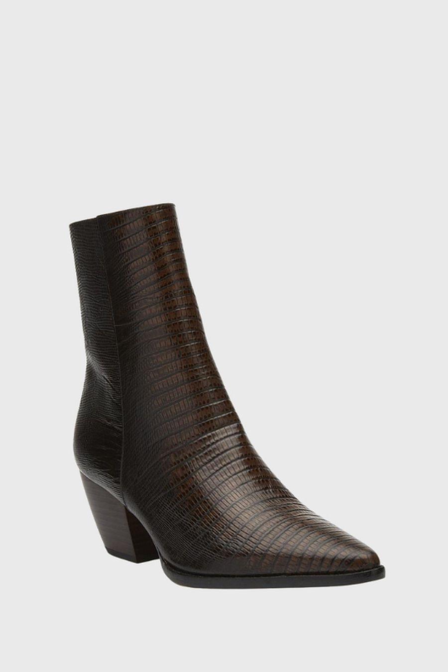 Matisse Footwear Caty Ankle Boot - chocolate lizard