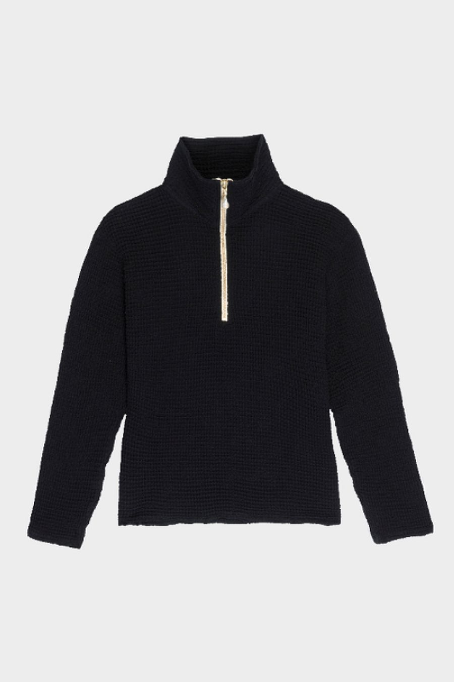 DONNI. Waffle 1/2 Zip Pullover - Jet