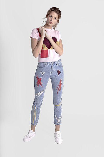 30ae3eca2e2c90 Cropped Jeans for Column Body Shape