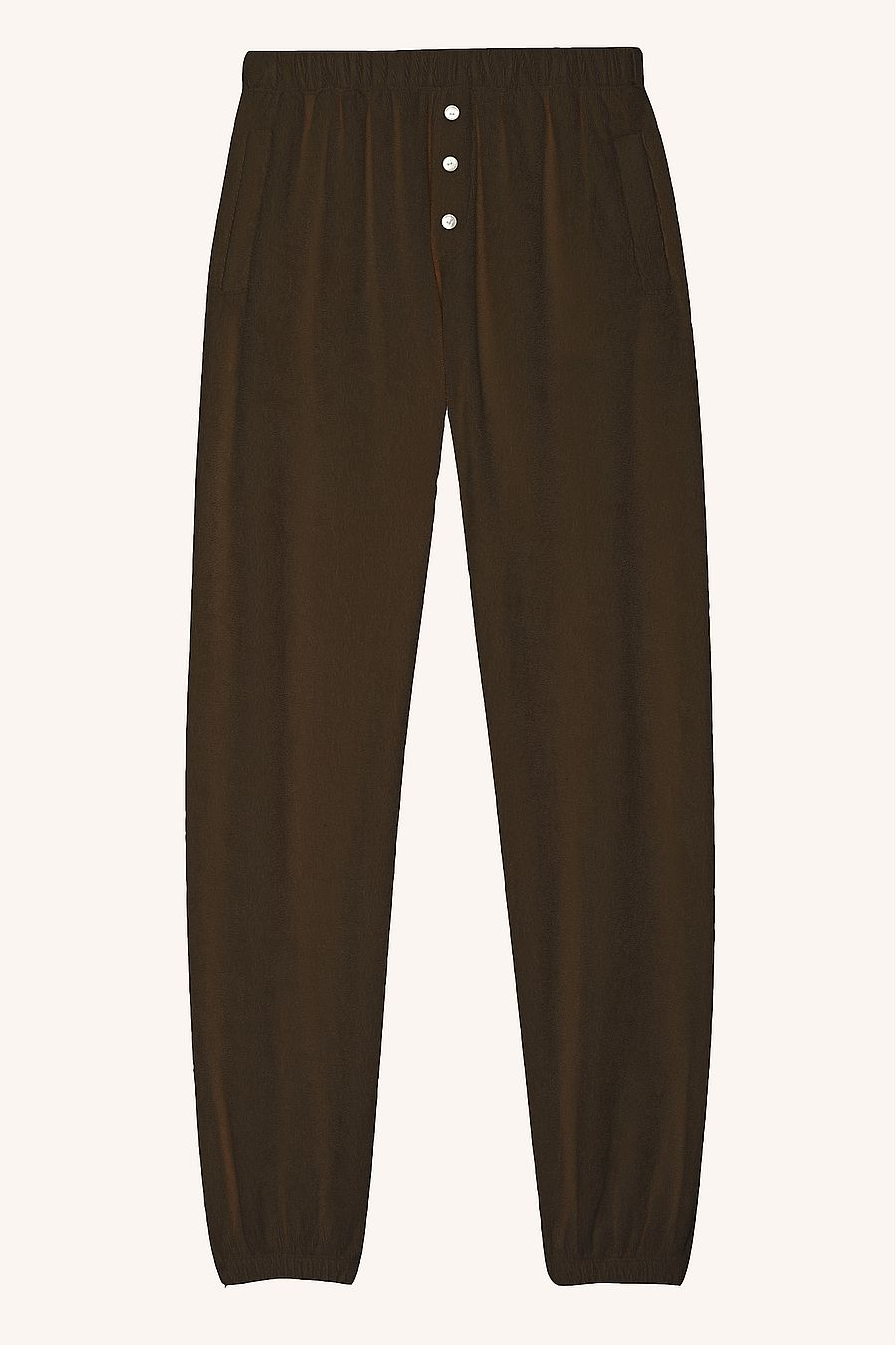 DONNI. Terry Henley Sweatpant - Chocolate