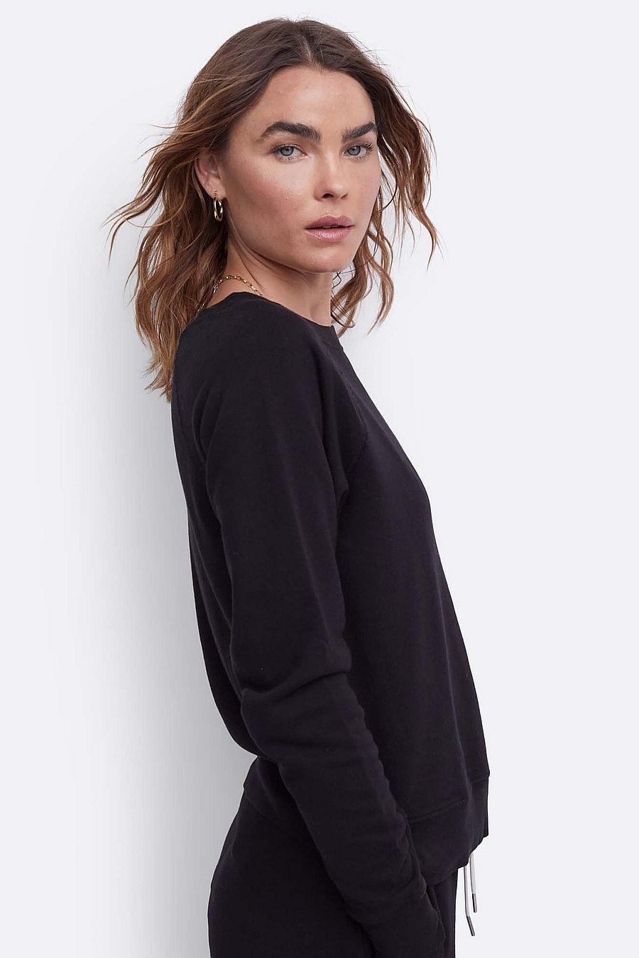 MATE The Label Organic Terry Raglan Sweatshirt - JET BLACK