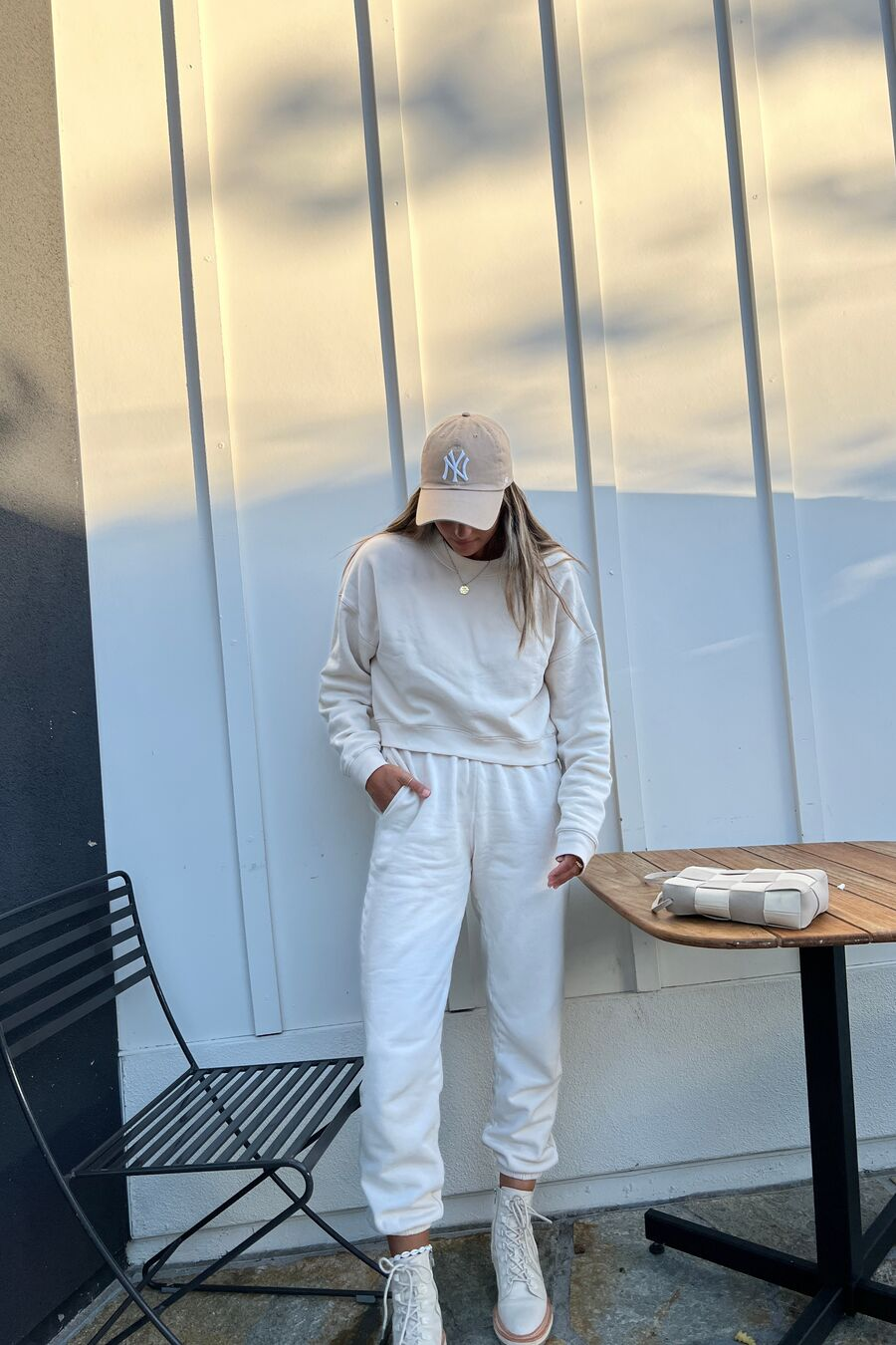 MATE The Label Fleece Relaxed Pocket Sweatpant - BONE