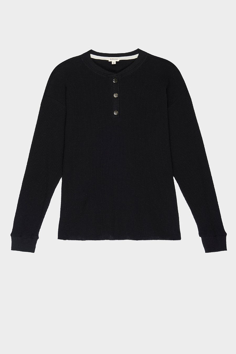 DONNI. Thermal Henley - Black