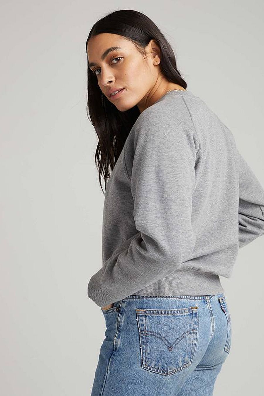 Richer Poorer Recycled Fleece Sweatshirt- Heather Grey