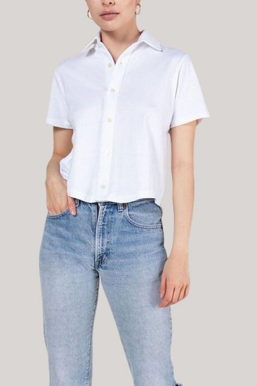 Leset Short Sleeve Button Down - White