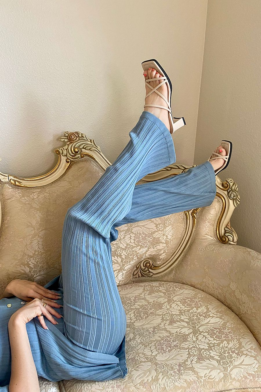 The Line by K Daisy Pant - Mineral Blue