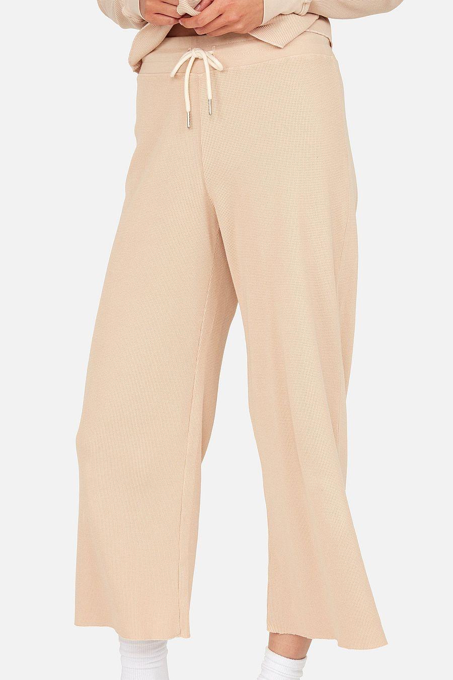 MATE The Label Organic Thermal Wide Leg Pant - LATTE