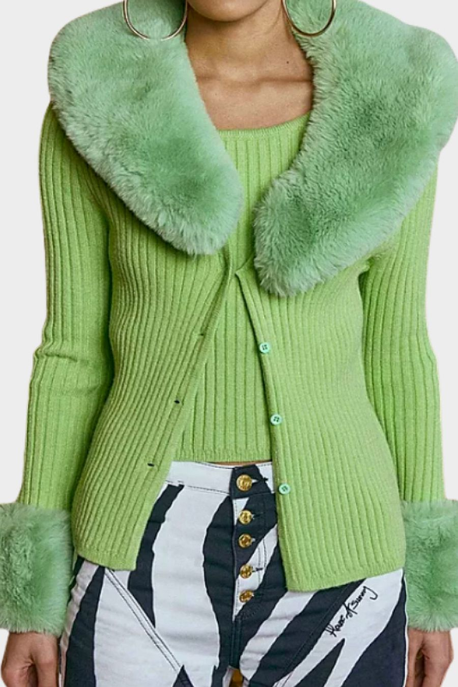 House Of Sunny Peggy Cardigan - Green