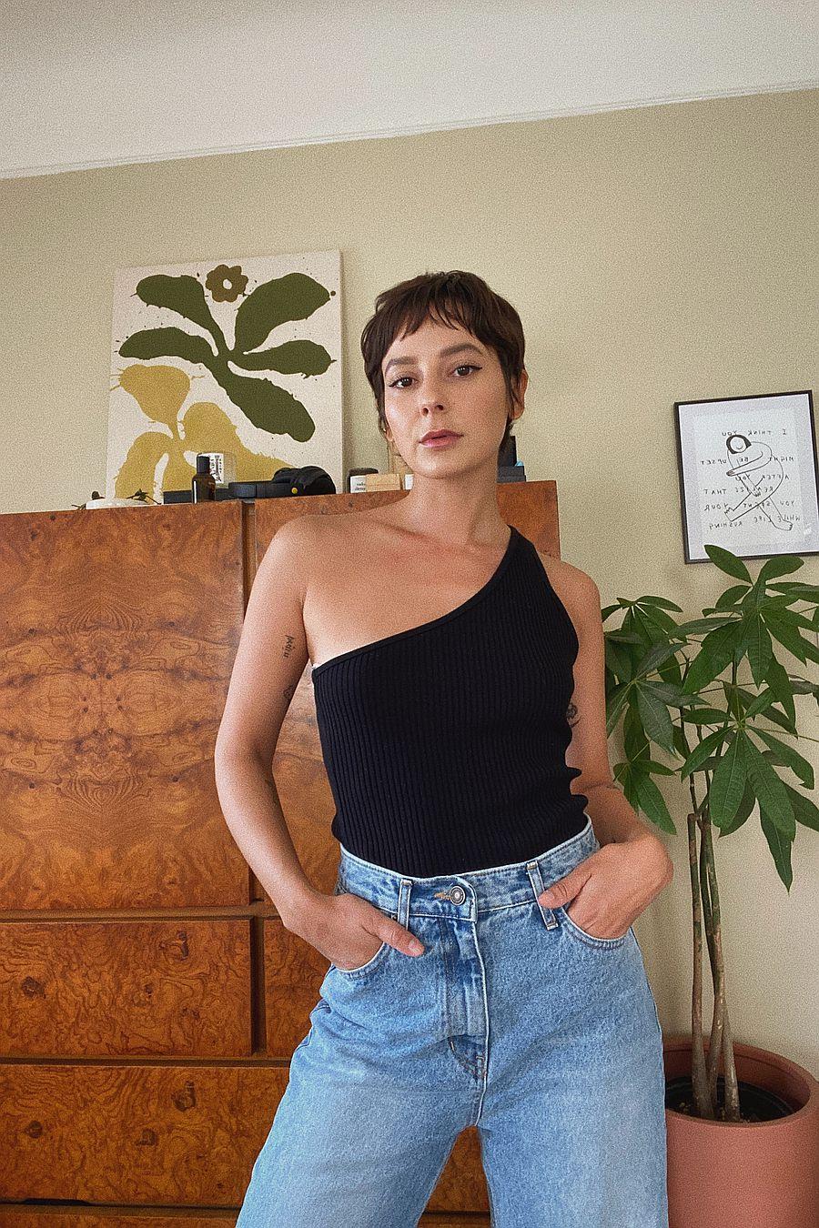 LACAUSA Clothing Lia Tank - Tar