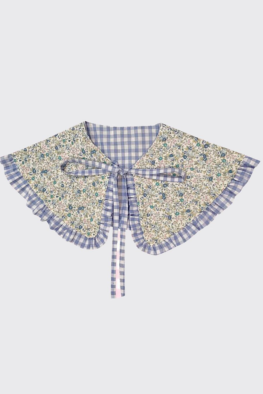 Big Baby Goes To Work Ruffle Collar - Floral/Gingham