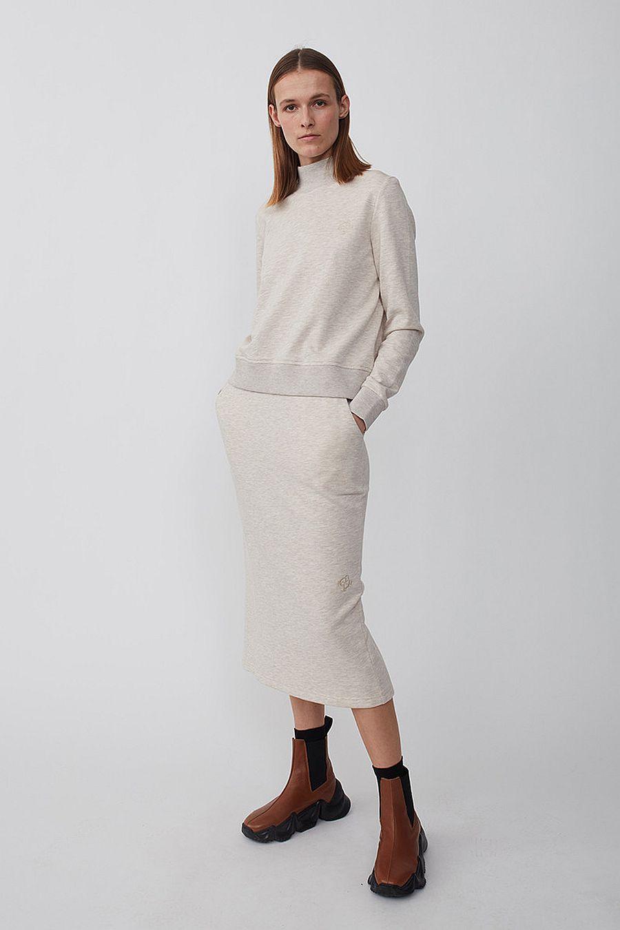 Just Female Halsey Sweat Skirt - Oatmeal