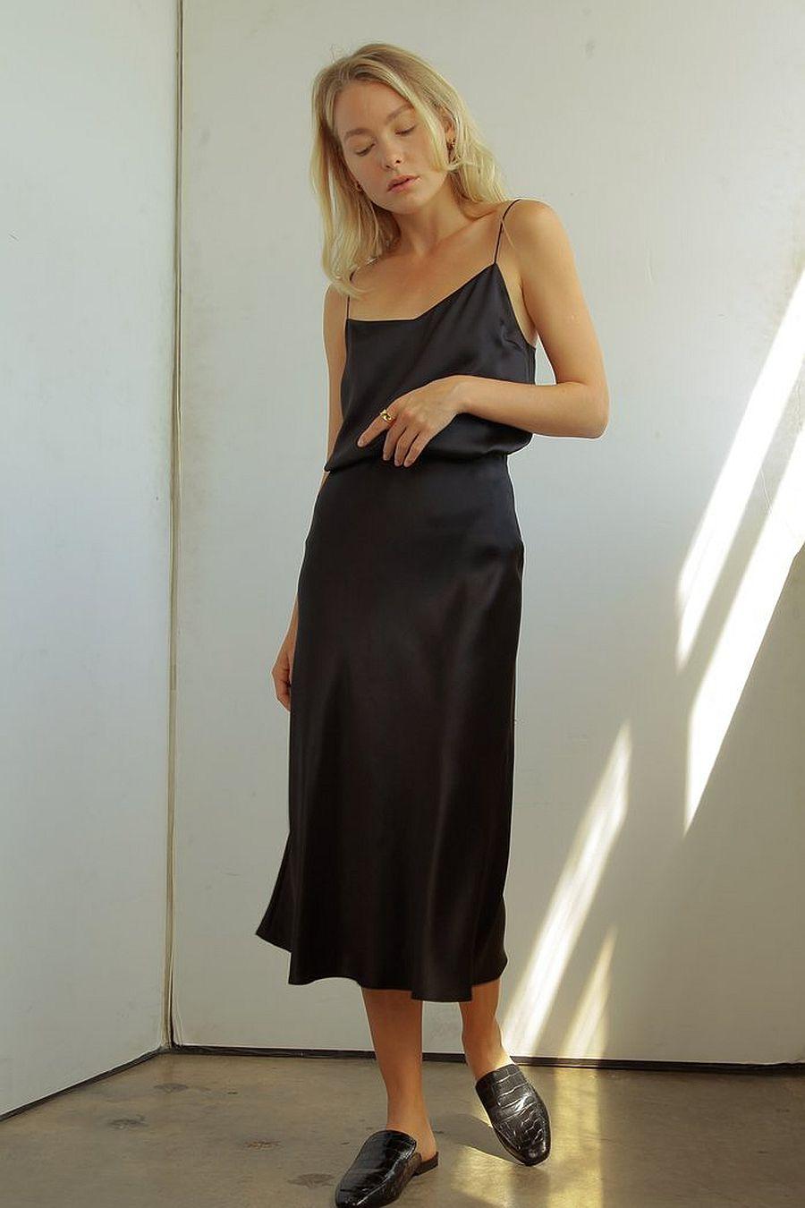 Almina Concept Silk Cami - Black