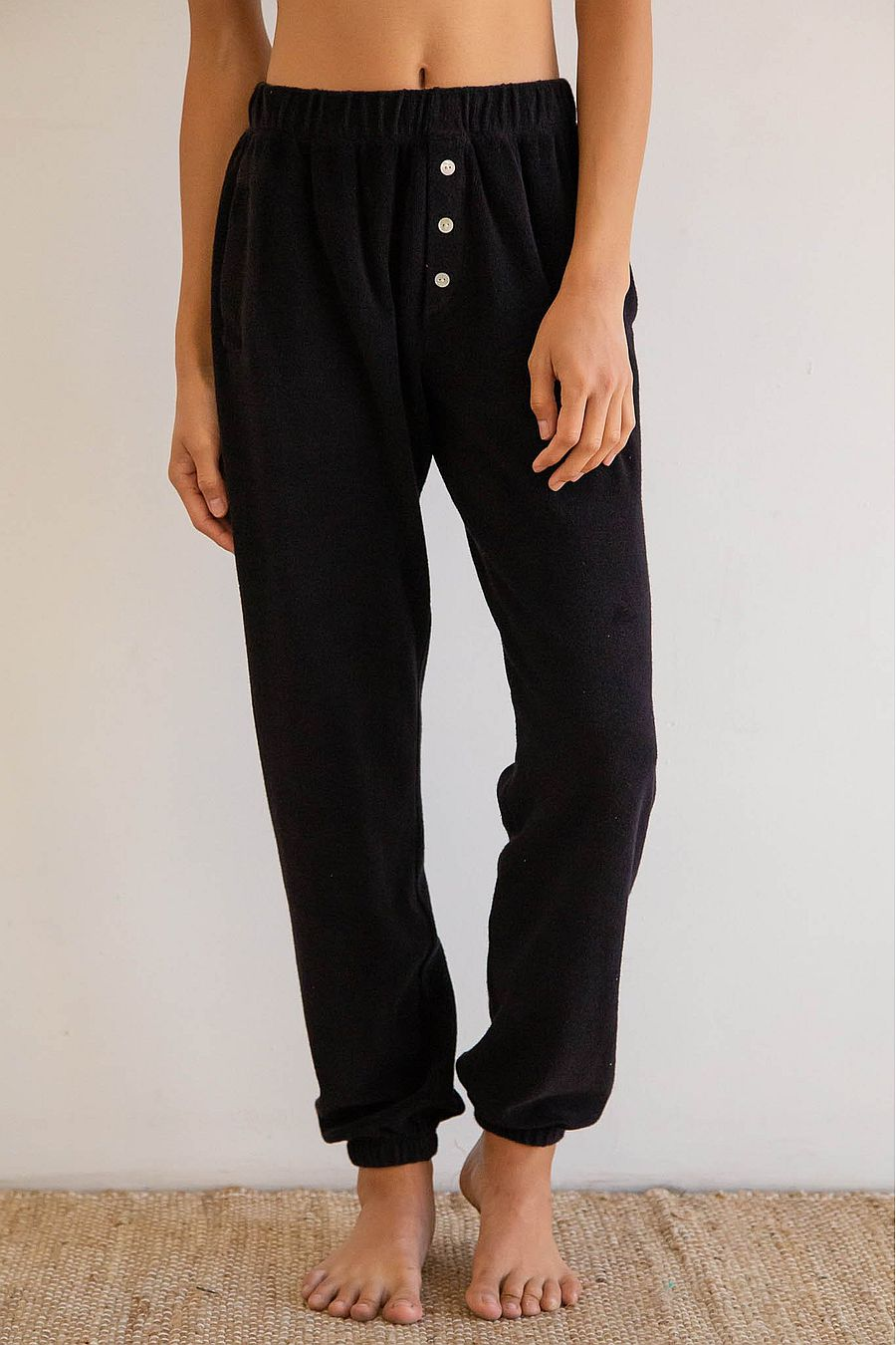 DONNI. Terry Henley Sweatpant - Black