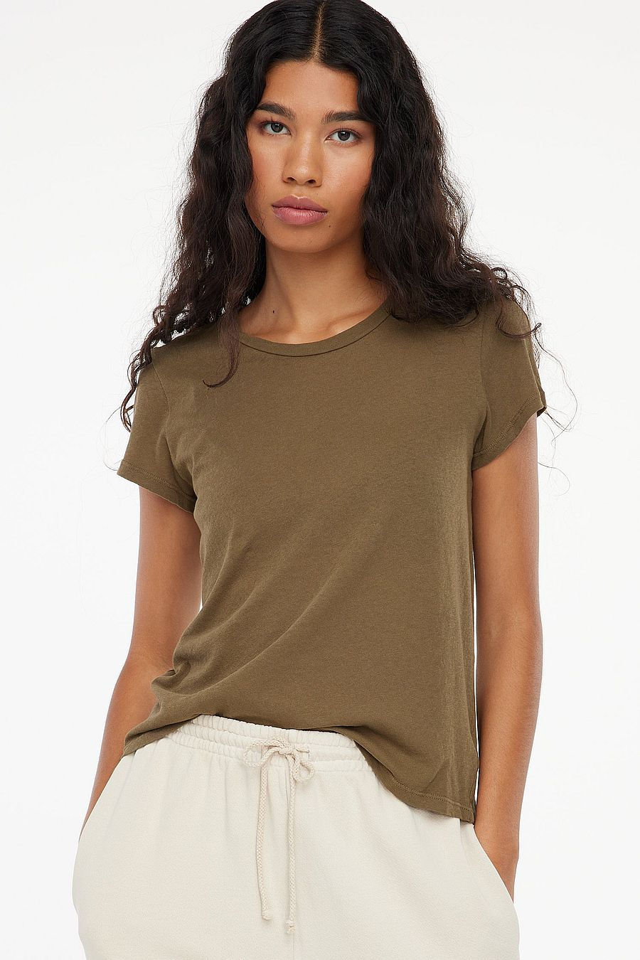 LACAUSA Clothing Frank Tee - Basil