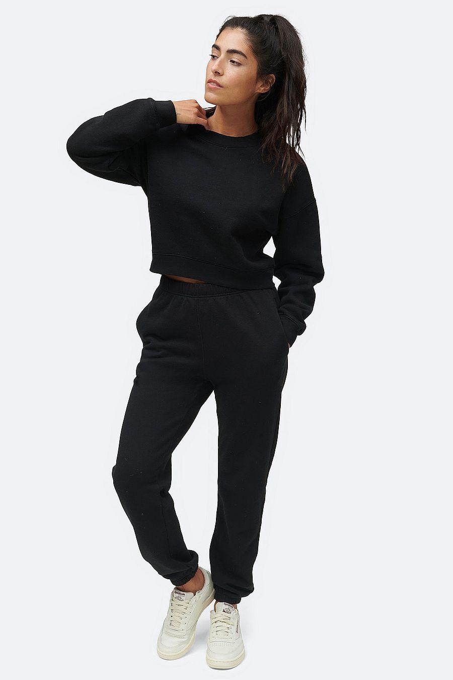 MATE The Label Fleece Relaxed Pocket Sweatpant - JET BLACK
