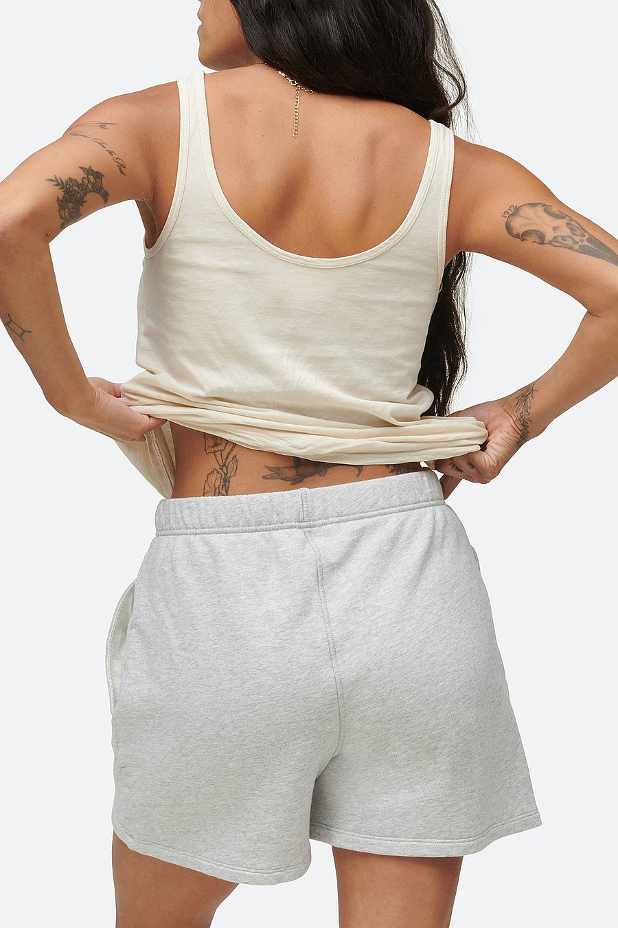 MATE The Label Fleece Pocket Short - HEATHER GREY