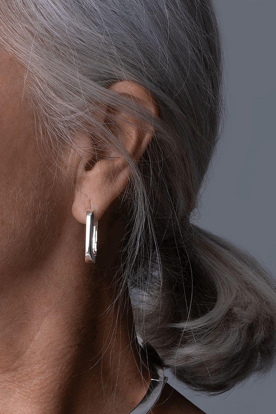 Jenny Bird U-Link Earrings - Silver