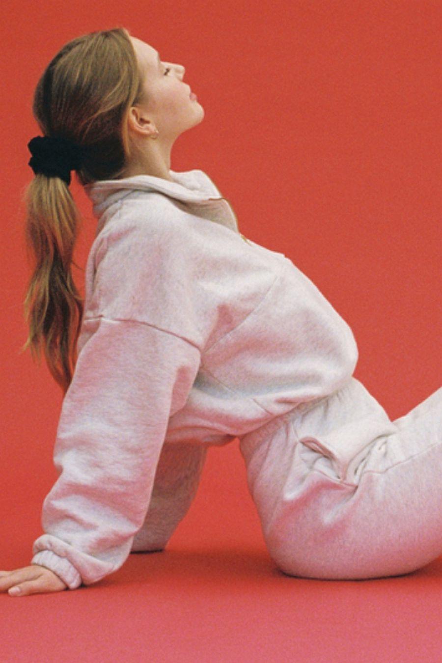 Gil Rodriguez Diana Half-Zip Sweatshirt - Ash Grey