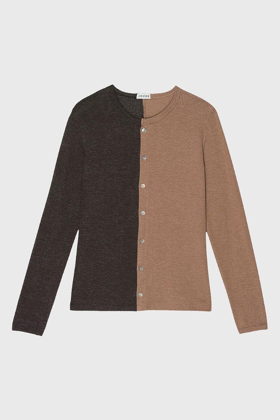 DONNI. Duo Sweater Cardi - Camel/Chocolate
