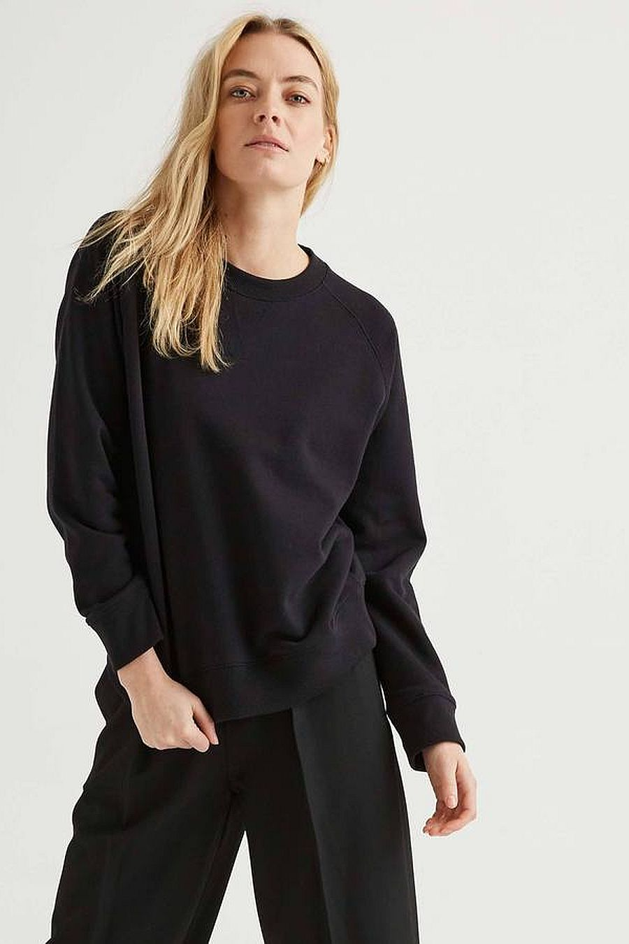 Richer Poorer Fleece Sweatshirt - Black