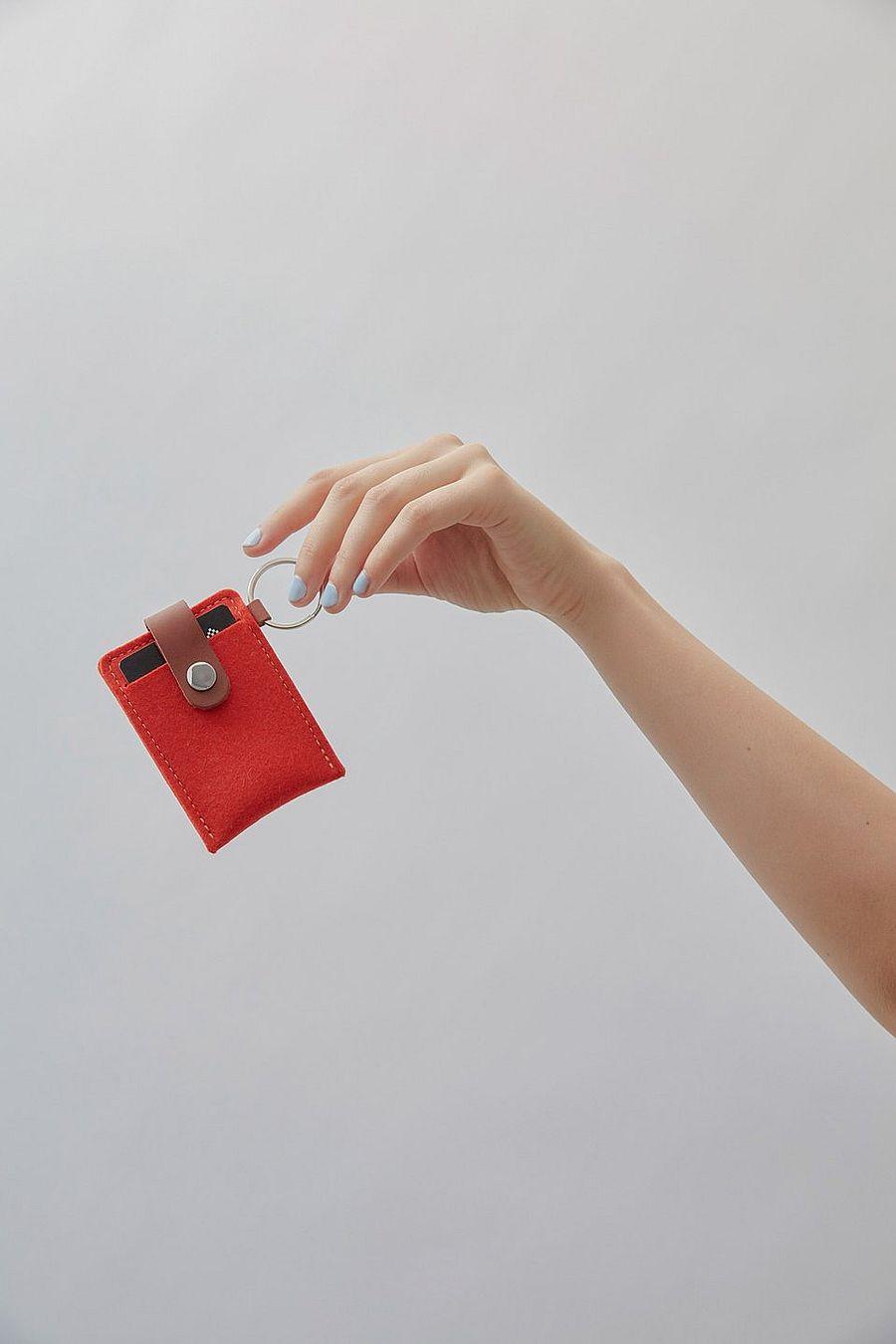 Graf Lantz Key Card Case Felt Granite