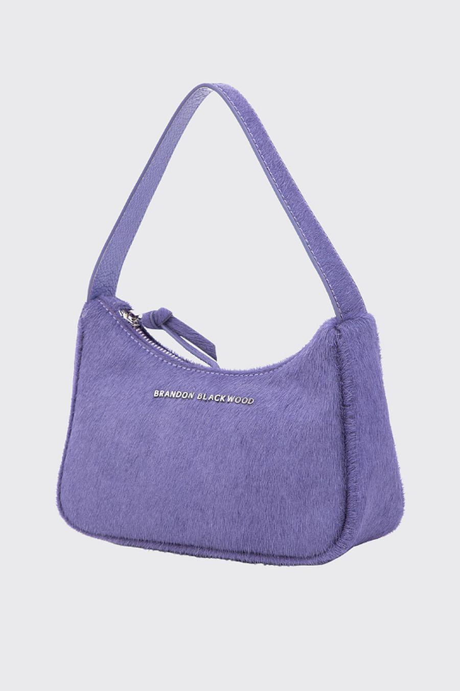 Brandon Blackwood SYL Bag - Purple Ponyhair