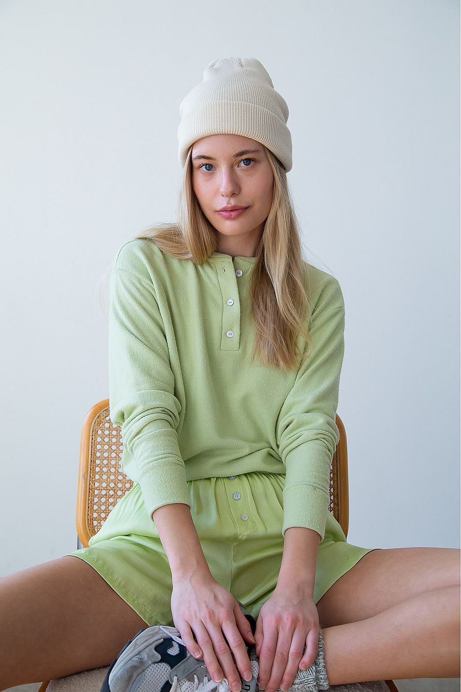 DONNI. Sweater Henley - Lime