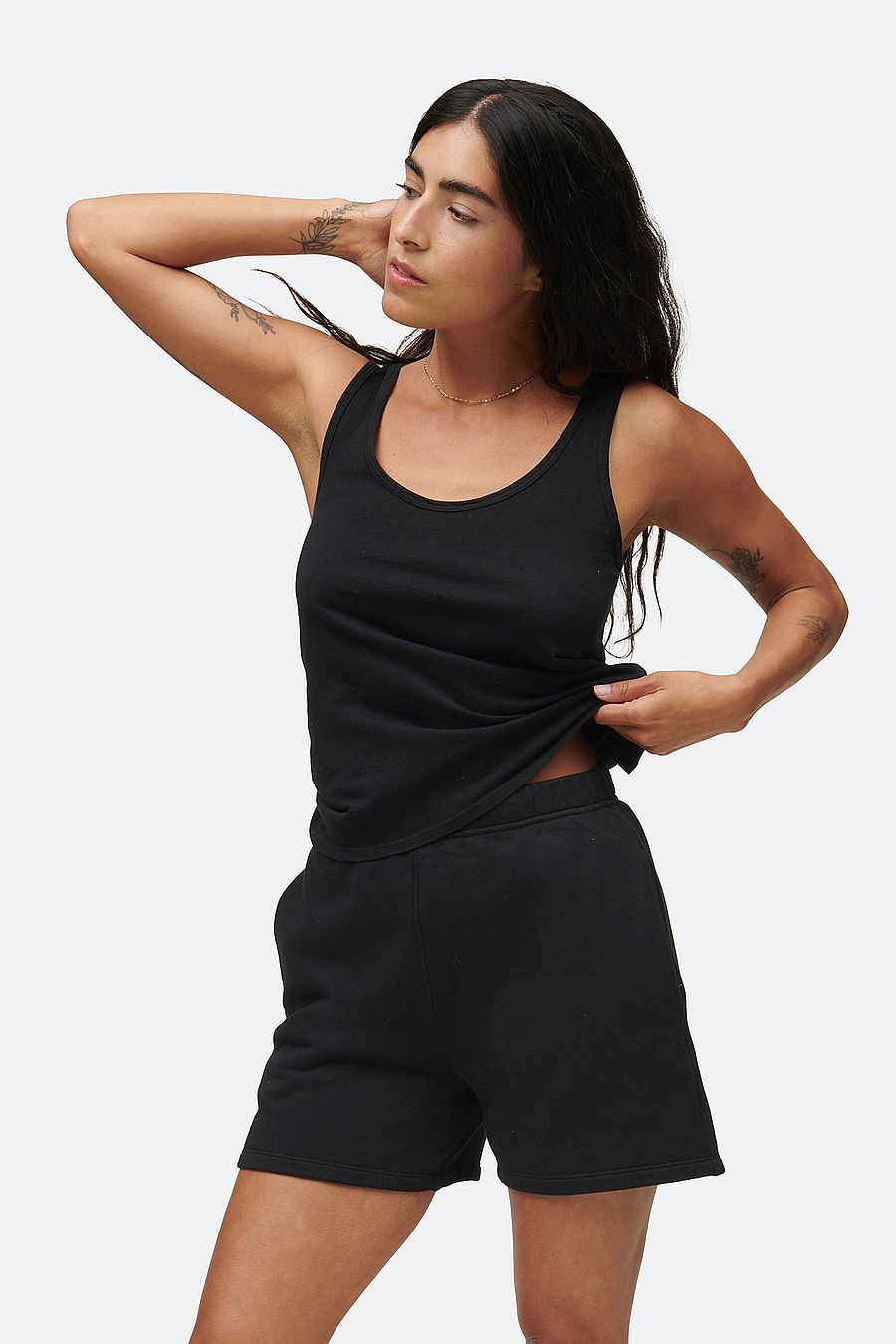MATE The Label Fleece Pocket Short - JET BLACK