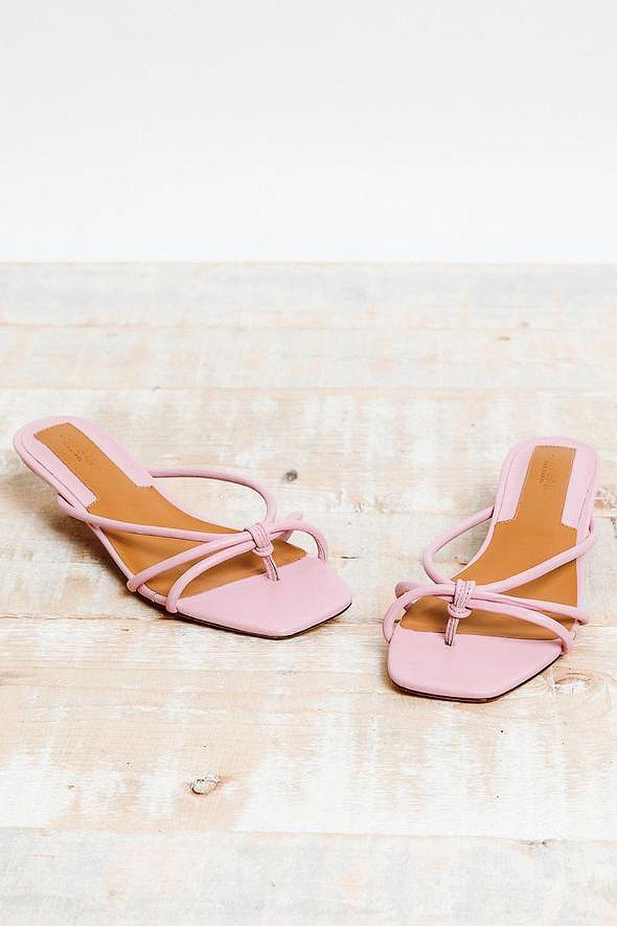 Jaggar Loop Kitten Heel Pink Lilac