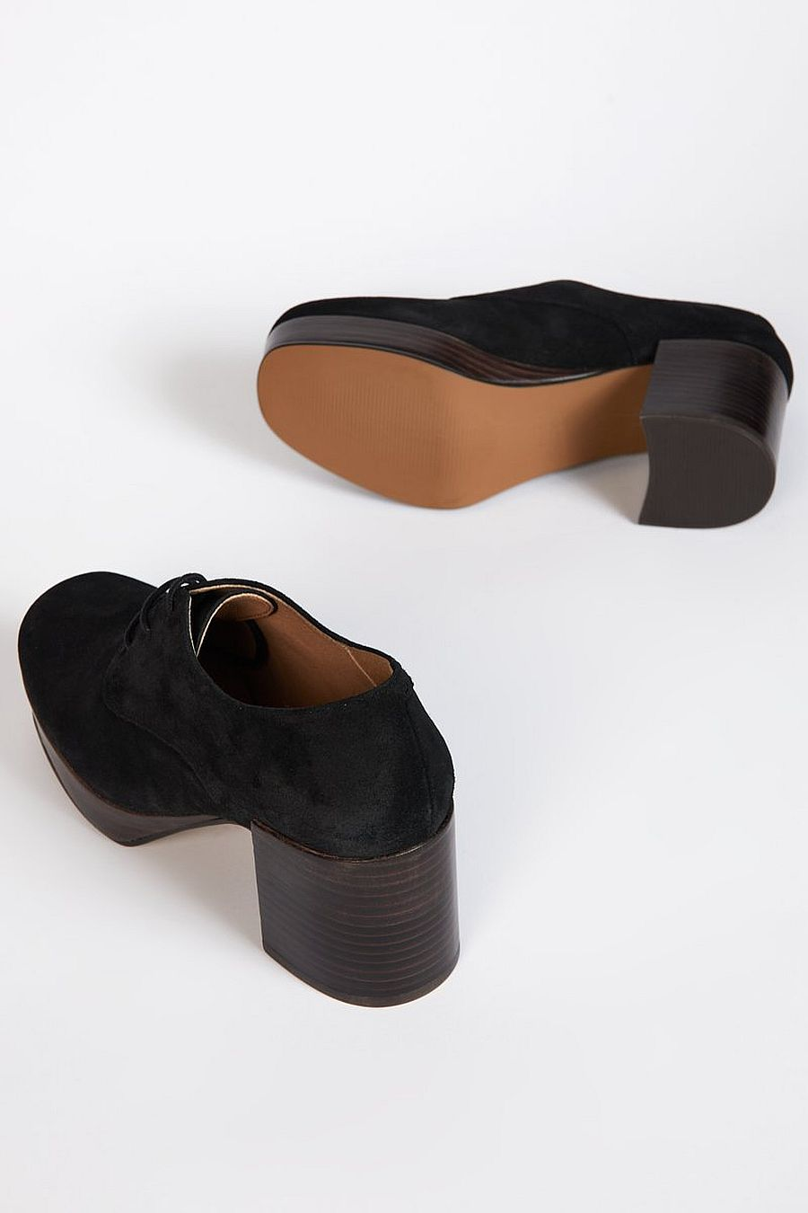 Intentionally Blank ALBANY Black Suede