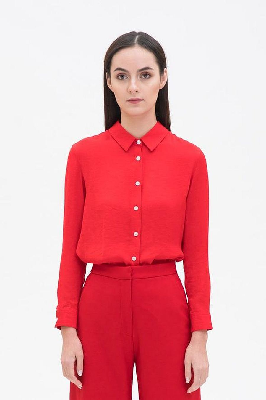 Hher Straight Fit Shirt - Red