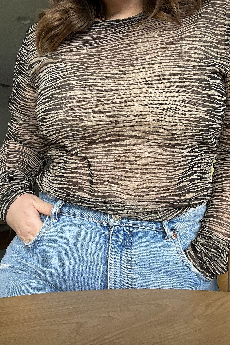 Wray NYC Long Sleeve Tee - Buttercream Zebra