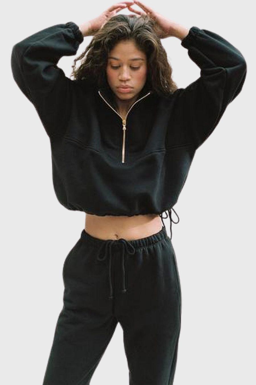 Gil Rodriguez Diana Half-Zip Sweatshirt - Black