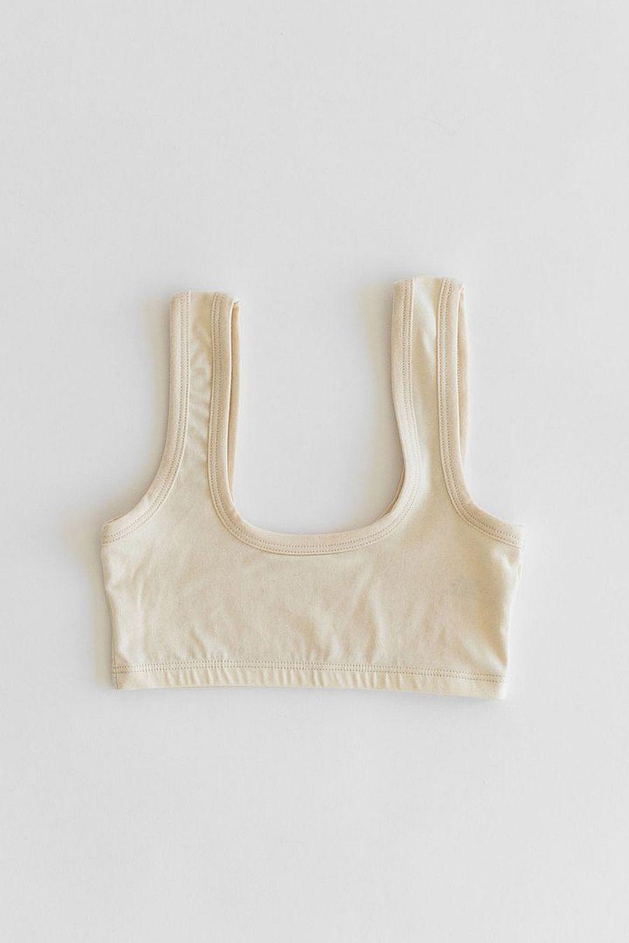 ARQ Wide Strap Bra - Cotton