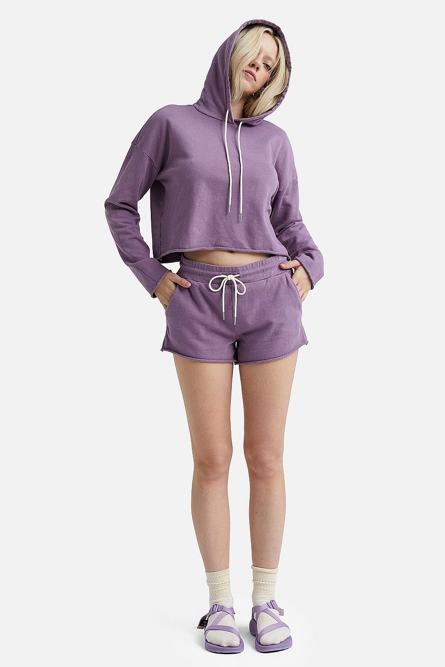 MATE The Label Organic Terry Lounge Short - LAVENDER