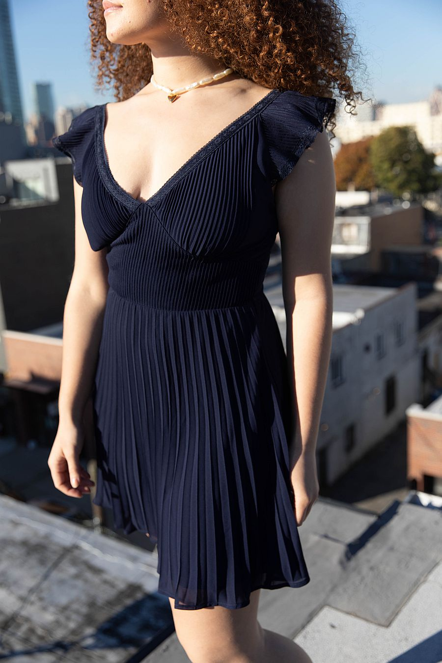 Find Me Now Anoki Mini Dress - Evening Blue