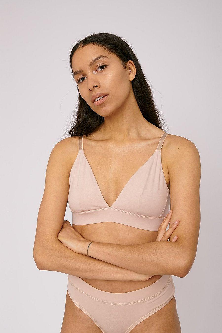 Organic Basics Organic Cotton Triangle Bra - Rose Nude