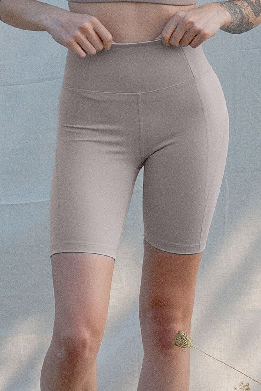 Girlfriend Collective Limestone High Rise Bike Short