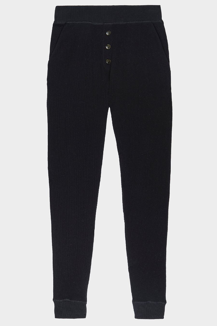 DONNI. Thermal Henley Sweatpant - Black