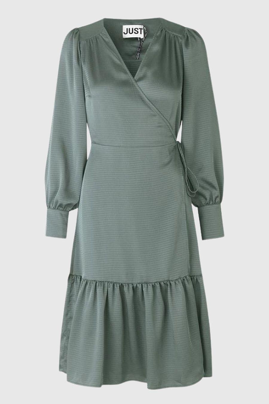 Just Female Minnie Wrap Dress - Balsam Green