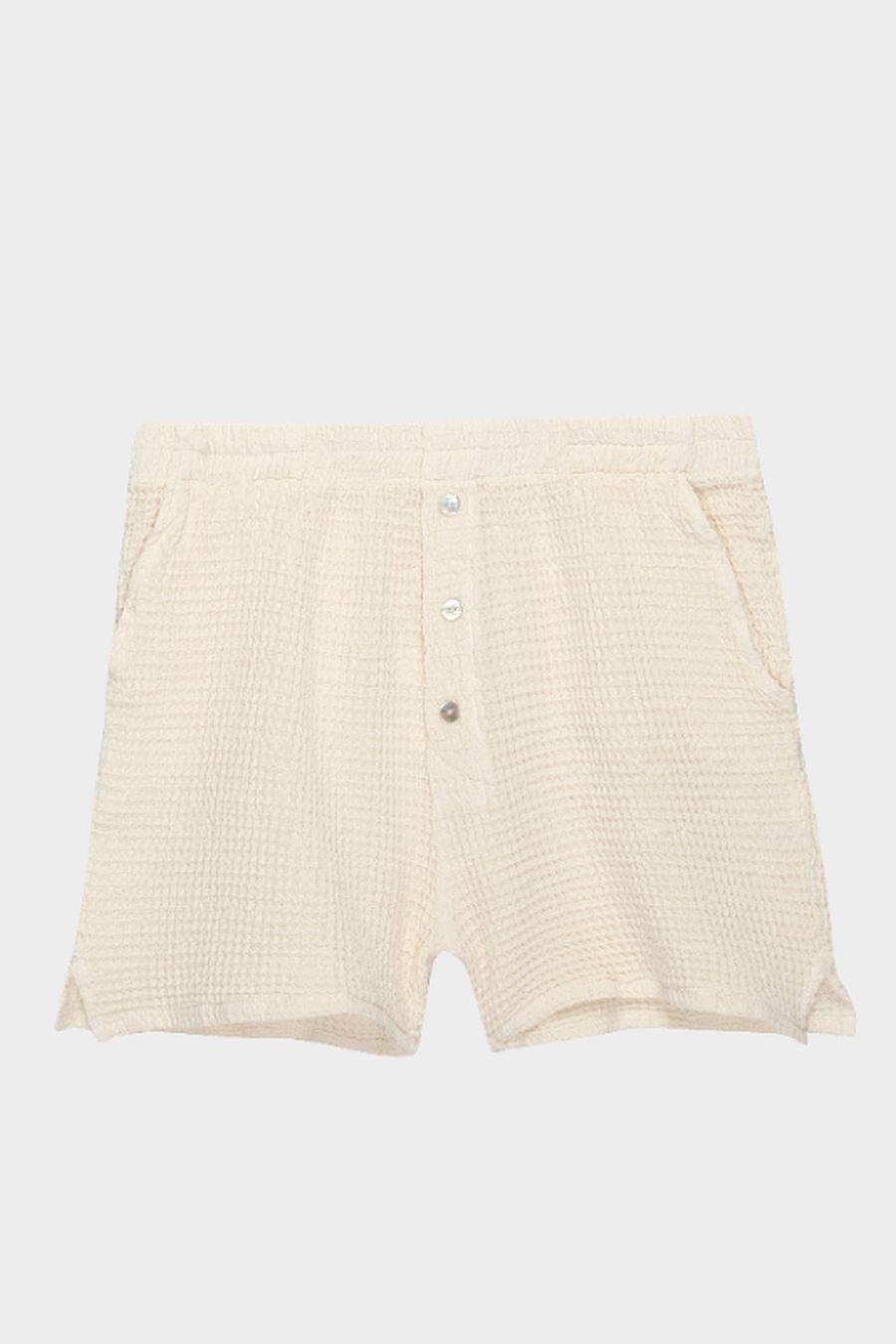 DONNI. Waffle Shorts - Creme