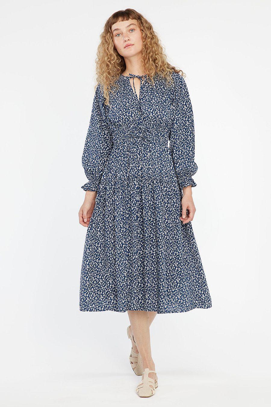 LACAUSA Clothing Dama Dress - Blue Magic Mushroom