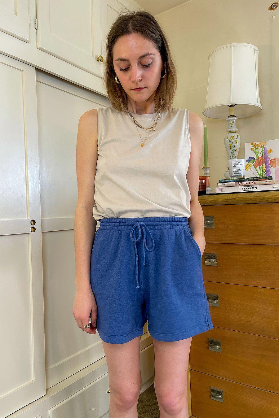 DONNI. Vintage Fleece Shorts - Indigo