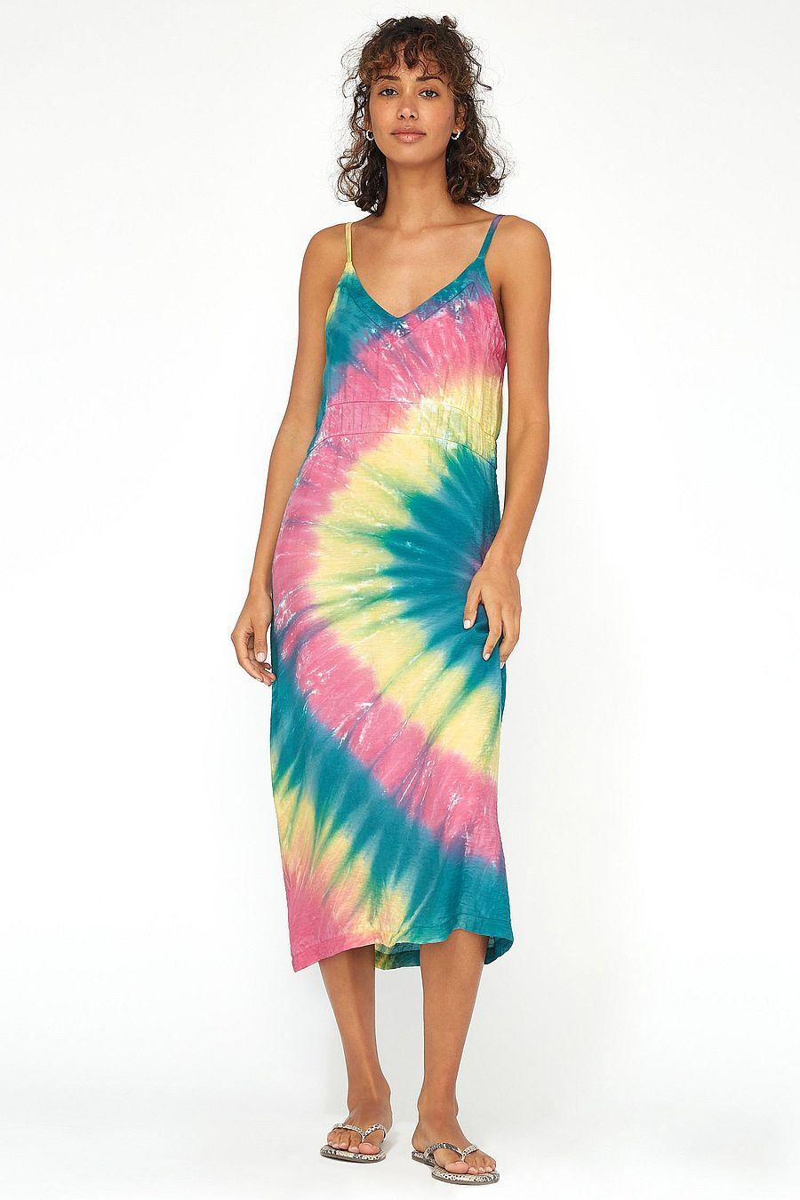 LACAUSA Clothing Alma Slip Dress - Cosmic Swirl