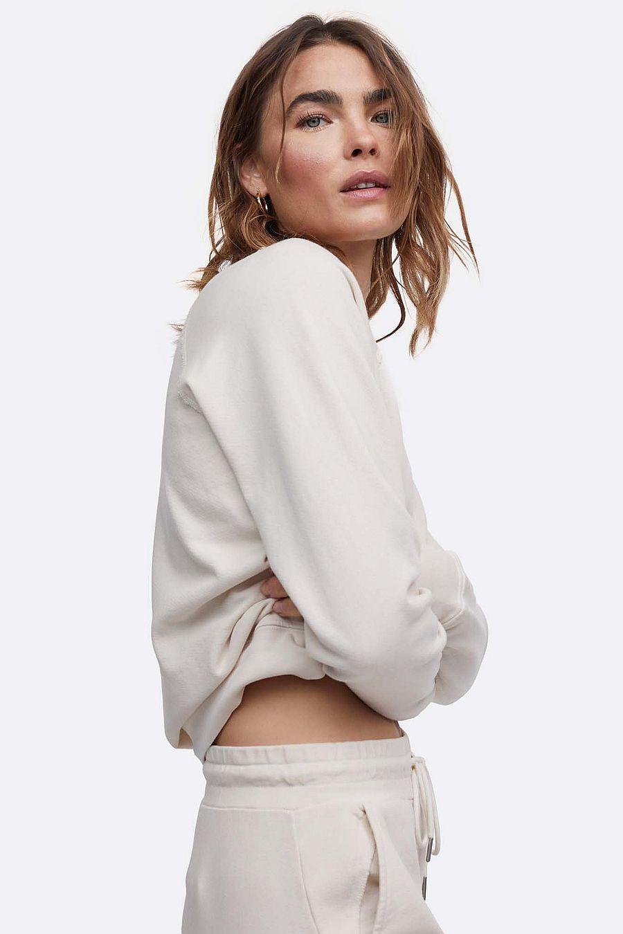 MATE The Label Organic Terry Raglan Sweatshirt - BONE