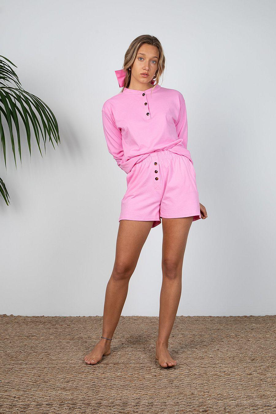 DONNI. Henley Tee - Flamingo
