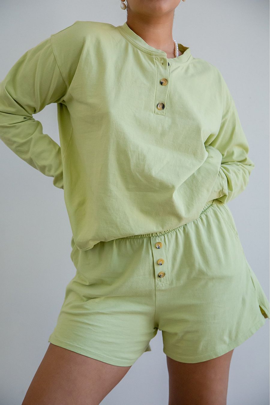DONNI. Henley Short - Lime